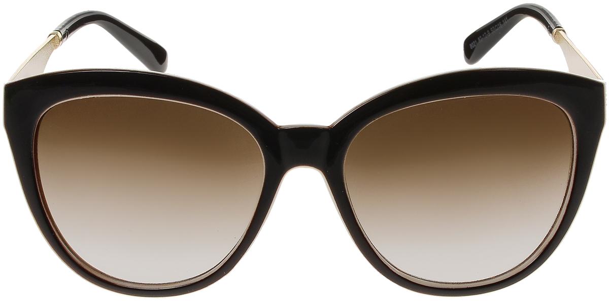 Очки солнцезащитные женские Vittorio Richi, цвет: коричневый, слоновая кость. OC8021c82-12-9/17fOC8021c82-12-9/17fСолнцезащитные очки Vittorio Richi выполнены из высококачественного пластика и металла. Пластик используемый при изготовлении линз не искажает изображение, не подвержен нагреванию и вредному воздействию солнечных лучей. Оправа очков легкая, прилегающей формы и поэтому обеспечивает максимальный комфорт. Такие очки защитят глаза от ультрафиолетовых лучей, подчеркнут вашу индивидуальность и сделают ваш образ завершенным.