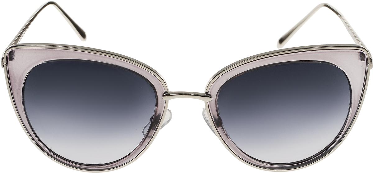 Очки солнцезащитные женские Vittorio Richi, цвет: серый. OC8001c80-24/17fBM8434-58AEСолнцезащитные очки Vittorio Richi выполнены из высококачественного пластика и металла. Пластик используемый при изготовлении линз не искажает изображение, не подвержен нагреванию и вредному воздействию солнечных лучей. Оправа очков легкая, прилегающей формы и поэтому обеспечивает максимальный комфорт. Такие очки защитят глаза от ультрафиолетовых лучей, подчеркнут вашу индивидуальность и сделают ваш образ завершенным.