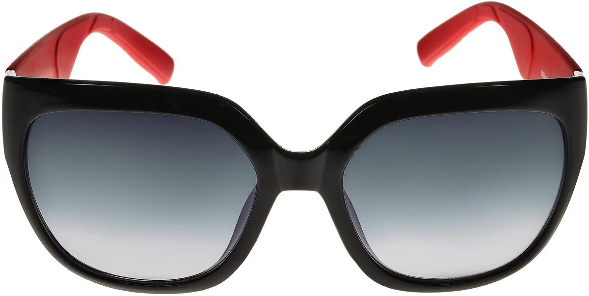 Очки солнцезащитные женские Vittorio Richi, цвет: черный, красный. ОС5025с80-10-2/17fОС5025с80-10-2/17fСолнцезащитные очки Vittorio Richi выполнены из высококачественного пластика. Пластик используемый при изготовлении линз не искажает изображение, не подвержен нагреванию и вредному воздействию солнечных лучей. Оправа очков легкая, прилегающей формы и поэтому обеспечивает максимальный комфорт. Такие очки защитят глаза от ультрафиолетовых лучей, подчеркнут вашу индивидуальность и сделают ваш образ завершенным.