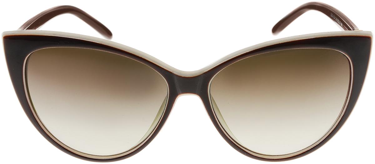 Очки солнцезащитные женские Vittorio Richi, цвет: коричневый, слоновая кость. OC2050с82-12-9/17fFM-849-RLСолнцезащитные очки Vittorio Richi выполнены из высококачественного пластика и металла, декорированы стразами. Пластик используемый при изготовлении линз не искажает изображение, не подвержен нагреванию и вредному воздействию солнечных лучей. Оправа очков легкая, прилегающей формы и поэтому обеспечивает максимальный комфорт. Такие очки защитят глаза от ультрафиолетовых лучей, подчеркнут вашу индивидуальность и сделают ваш образ завершенным.