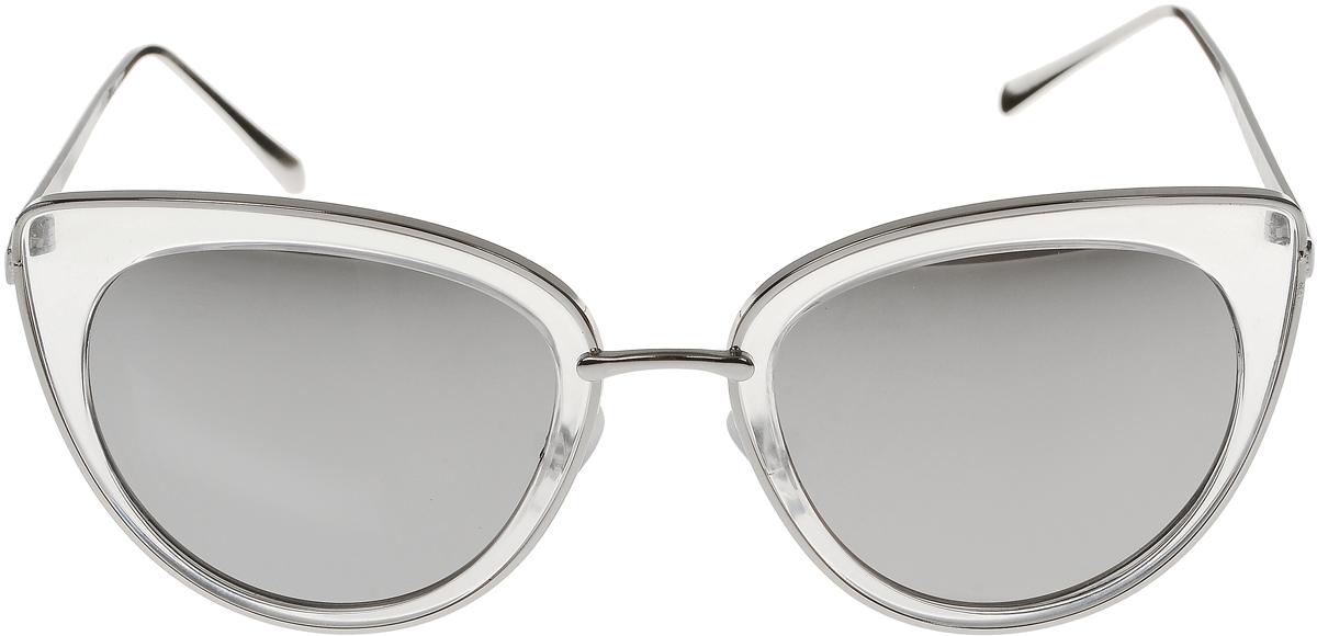 Очки солнцезащитные женские Vittorio Richi, цвет: серый, серебристый. OC8001c84-26/17fINT-06501Солнцезащитные очки Vittorio Richi выполнены из высококачественного пластика и металла. Пластик используемый при изготовлении линз не искажает изображение, не подвержен нагреванию и вредному воздействию солнечных лучей. Оправа очков легкая, прилегающей формы и поэтому обеспечивает максимальный комфорт. Такие очки защитят глаза от ультрафиолетовых лучей, подчеркнут вашу индивидуальность и сделают ваш образ завершенным.