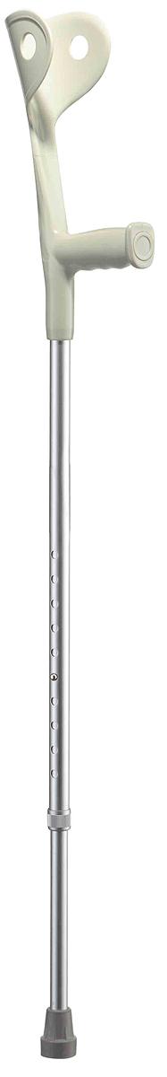 B.Well Костыль WR-322 серый05.959Костыль-канадка WR-322 предназначен для пациентов, способных частично поддерживать свой вес, перенося основную нагрузку на кисти рук и локтевой сустав. Для надежной опоры верхняя часть костыля оснащена фиксирующей манжетой, а также комфортной рукояткой анатомической формы из прочного нескользящего пластика. Корпус костыля выполнен из авиационного алюминия, что обеспечивает и прочность, и легкость. Телескопическая конструкция позволяет отрегулировать высоту костыля на удобный для вас уровень.