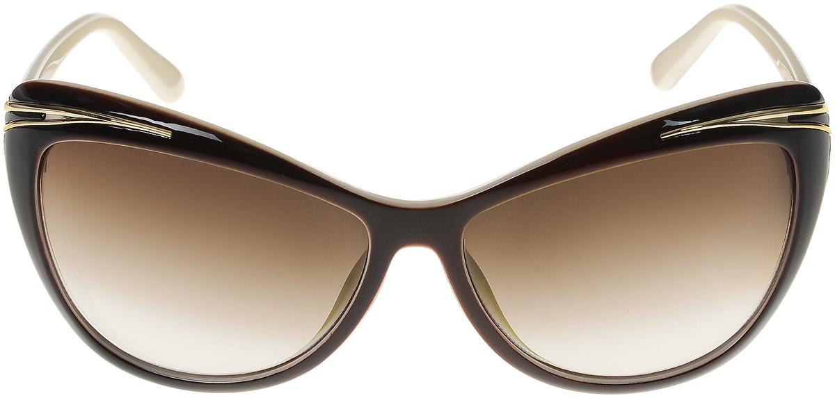 Очки солнцезащитные женские Vittorio Richi, цвет: коричневый, слоновая кость. ОС5043с82-12/17fFM-550-ASСолнцезащитные очки Vittorio Richi выполнены из высококачественного пластика и металла. Пластик используемый при изготовлении линз не искажает изображение, не подвержен нагреванию и вредному воздействию солнечных лучей. Оправа очков легкая, прилегающей формы и поэтому обеспечивает максимальный комфорт. Такие очки защитят глаза от ультрафиолетовых лучей, подчеркнут вашу индивидуальность и сделают ваш образ завершенным.