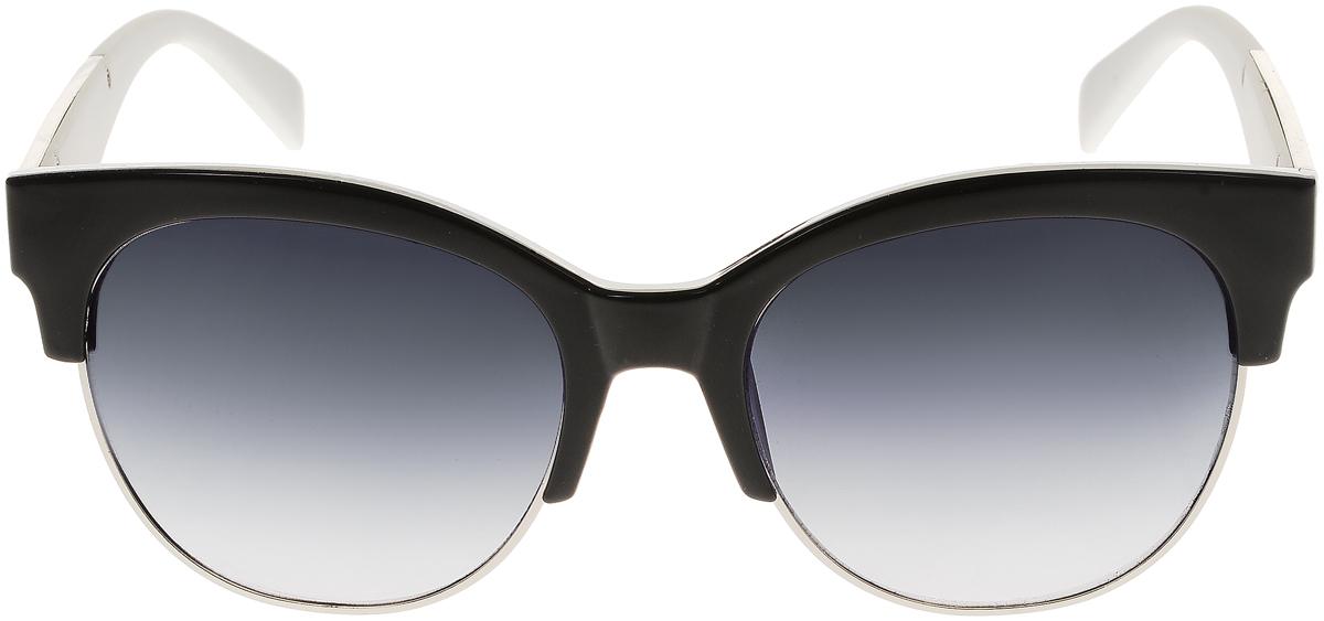 Очки солнцезащитные женские Vittorio Richi, цвет: черный, белый. OC1972с3/17fFM-849-RLЭлегантные солнцезащитные очки Vittorio Richi выполнены из высококачественного пластика и металла. Пластик используемый при изготовлении линз не искажает изображение, не подвержен нагреванию и вредному воздействию солнечных лучей. Оправа очков легкая, прилегающей формы и поэтому обеспечивает максимальный комфорт. Такие очки защитят глаза от ультрафиолетовых лучей, подчеркнут вашу индивидуальность и сделают ваш образ завершенным.