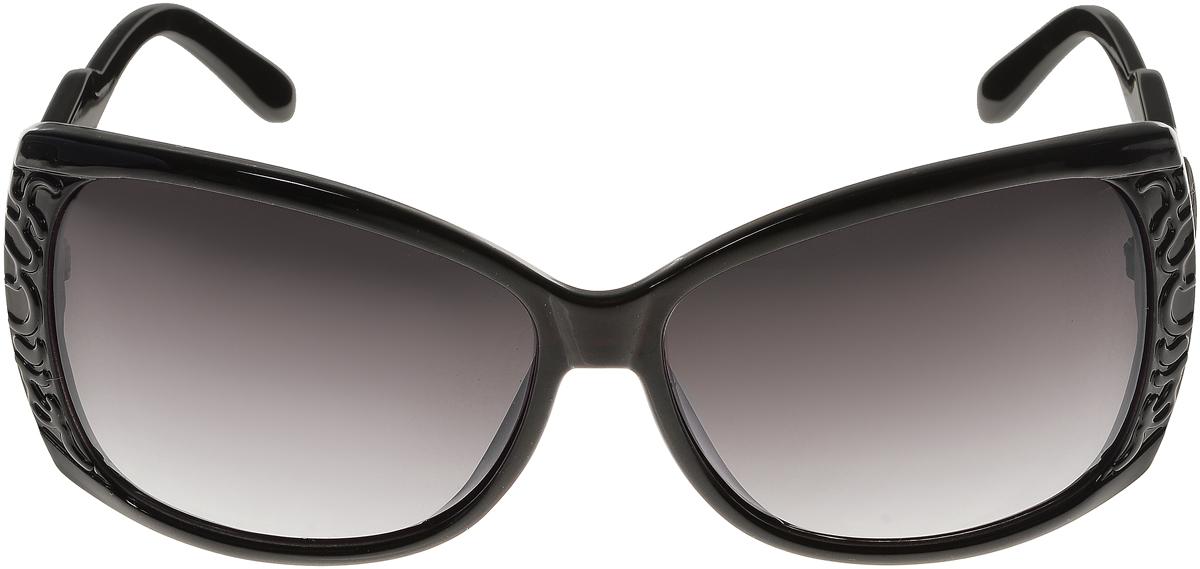 Очки солнцезащитные женские Vittorio Richi, цвет: черный. ОС5023с80-10/17fFM-883-OCСолнцезащитные очки Vittorio Richi выполнены из высококачественного пластика. Пластик используемый при изготовлении линз не искажает изображение, не подвержен нагреванию и вредному воздействию солнечных лучей. Оправа очков легкая, прилегающей формы и поэтому обеспечивает максимальный комфорт. Такие очки защитят глаза от ультрафиолетовых лучей, подчеркнут вашу индивидуальность и сделают ваш образ завершенным.