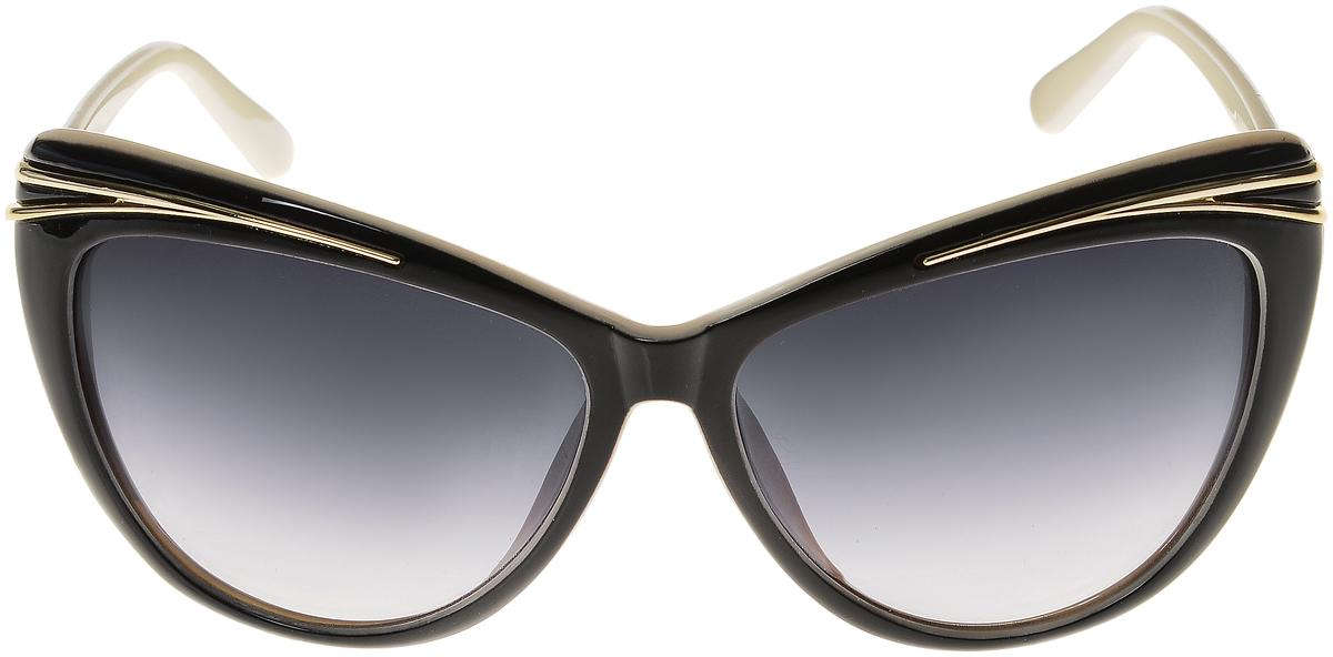 Очки солнцезащитные женские Vittorio Richi, цвет: черный, слоновая кость. ОС5044с80-13/17fFM-107-MKСолнцезащитные очки Vittorio Richi выполнены из высококачественного пластика. Пластик используемый при изготовлении линз не искажает изображение, не подвержен нагреванию и вредному воздействию солнечных лучей. Оправа очков легкая, прилегающей формы и поэтому обеспечивает максимальный комфорт. Такие очки защитят глаза от ультрафиолетовых лучей, подчеркнут вашу индивидуальность и сделают ваш образ завершенным.