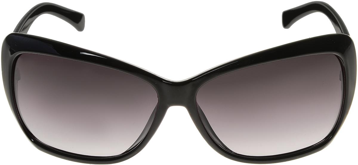 Очки солнцезащитные женские Vittorio Richi, цвет: черный. ОС5012с80-10/17fFM-550-TKСолнцезащитные очки Vittorio Richi выполнены из высококачественного пластика. Пластик используемый при изготовлении линз не искажает изображение, не подвержен нагреванию и вредному воздействию солнечных лучей. Оправа очков легкая, прилегающей формы и поэтому обеспечивает максимальный комфорт. Такие очки защитят глаза от ультрафиолетовых лучей, подчеркнут вашу индивидуальность и сделают ваш образ завершенным.