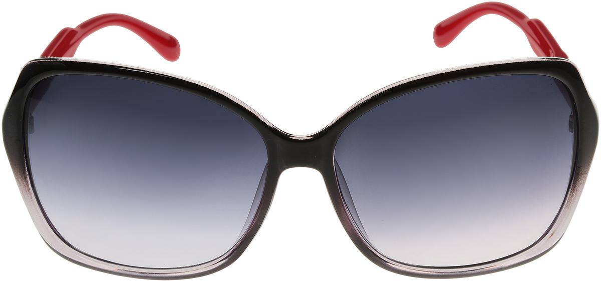 Очки солнцезащитные женские Vittorio Richi, цвет: черный, красный. ОС5017с80-22-2/17fINT-06501Солнцезащитные очки Vittorio Richi выполнены из высококачественного пластика. Пластик используемый при изготовлении линз не искажает изображение, не подвержен нагреванию и вредному воздействию солнечных лучей. Оправа очков легкая, прилегающей формы и поэтому обеспечивает максимальный комфорт. Такие очки защитят глаза от ультрафиолетовых лучей, подчеркнут вашу индивидуальность и сделают ваш образ завершенным.