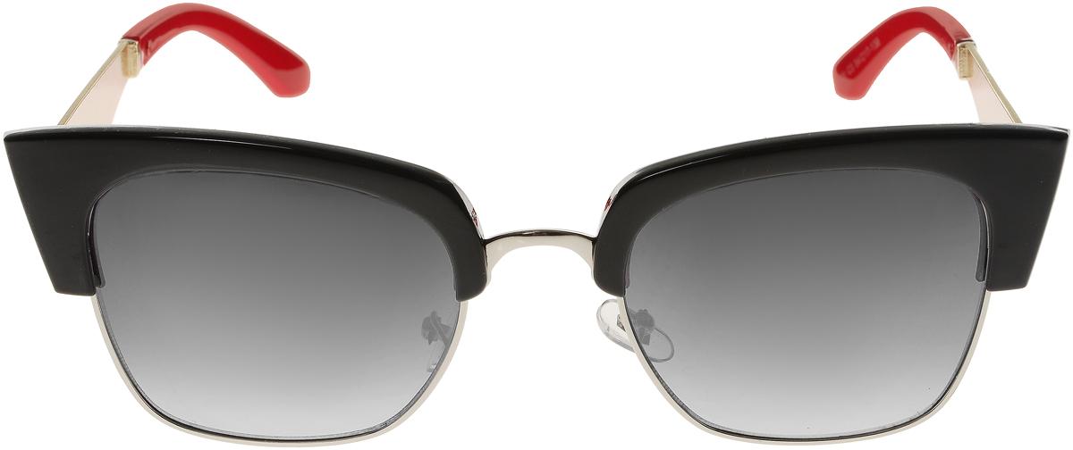 Очки солнцезащитные женские Vittorio Richi, цвет: черный, красный. OC1901c3/17fINT-06501Элегантные солнцезащитные очки Vittorio Richi выполнены из высококачественного пластика и металла. Пластик используемый при изготовлении линз не искажает изображение, не подвержен нагреванию и вредному воздействию солнечных лучей. Оправа очков легкая, прилегающей формы и поэтому обеспечивает максимальный комфорт. Такие очки защитят глаза от ультрафиолетовых лучей, подчеркнут вашу индивидуальность и сделают ваш образ завершенным.