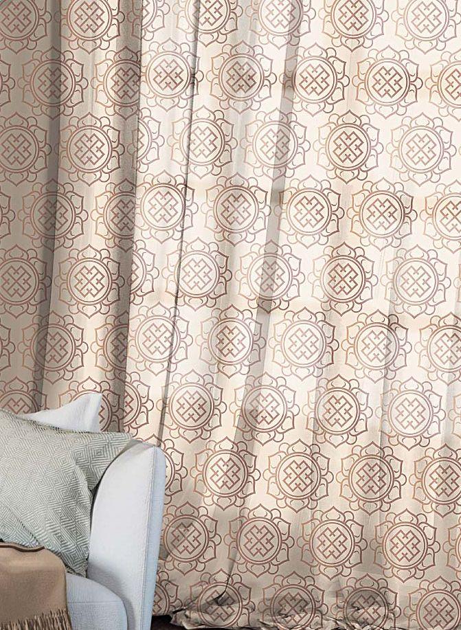 Комплект штор Волшебная ночь Gilt, на ленте, высота 270 см, 2 шт705498Шторы коллекции Волшебная ночь - это готовое решение для Вашего интерьера, гарантирующее красоту, удобство и индивидуальный стиль! Шторы изготовлены из тонкой и легкой ткани ВУАЛЬ, которая почти не препятствует прохождению света, но защищает комнату от посторонних взглядов. Длина штор регулируется с помощью клеевой паутинки (в комплекте). Изделия крепятся на вшитую шторную ленту: на крючки или путем продевания на карниз. Дизайнеры Марки предлагают уже сформированные комплекты штор из различных тканей и рисунков для создания идеальной композиции на окне. Для удобства выбора дизайны штор распределены в стилевые коллекции: ЭТНО, ВЕРСАЛЬ, ЛОФТ, ПРОВАНС. В коллекции Волшебная ночь к данной шторе Вы также сможете подобрать шторы из других тканей: БЛЭКАУТ (100% затемненение), сатен и ГАБАРДИН (частичное затемнение), которые будут прекрасно сочетаться по дизайну и обеспечат особый уют Вашему дому.