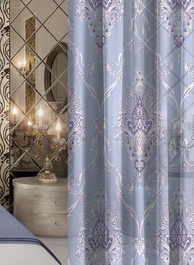 Комплект штор Волшебная ночь Royalty, на ленте, цвет: голубой, высота 270 см10503Шторы коллекции Волшебная ночь - это готовое решение для интерьера, гарантирующее красоту, удобство и индивидуальный стиль.Шторы изготовлены из ткани вуаль, которая почти не мешает прохождению света, но защищает комнату от посторонних взглядов.Длина штор регулируется с помощью клеевой паутинки (в комплекте). Изделия крепятся на вшитую шторную ленту: на крючки или путем продевания на карниз.Высота: 270 см.