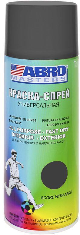 Краска-спрей Abro Masters, цвет: серый грунтDAVC150Краска-спрей применяется для окраски металлических и деревянных поверхностей различных предметов. Используется как для внутренних (домашних), так и наружных работ. После высыхания не токсична.