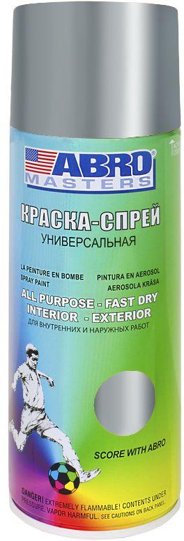 Краска-спрей Abro Masters, цвет: хромSP-029-AMПрименяется для окраски металлических и деревянных поверхностей различных предметов. Используется как для внутренних (домашних), так и наружных работ. После высыхания не токсична.