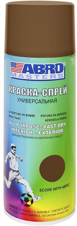 Краска-спрей Abro Masters, цвет: коричневыйPM 6515Краска-спрей применяется для окраски металлических и деревянных поверхностей различных предметов. Используется как для внутренних (домашних), так и наружных работ. После высыхания не токсична.