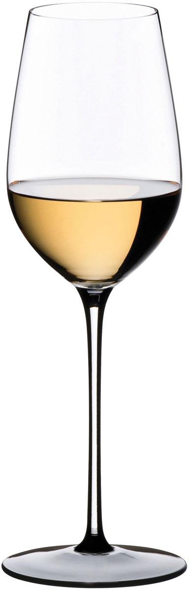 Фужер для белого вина Riedel Sommeliers Black Tie. Riesling Grand Cru, цвет: прозрачный, черный, 380 мл4100/15
