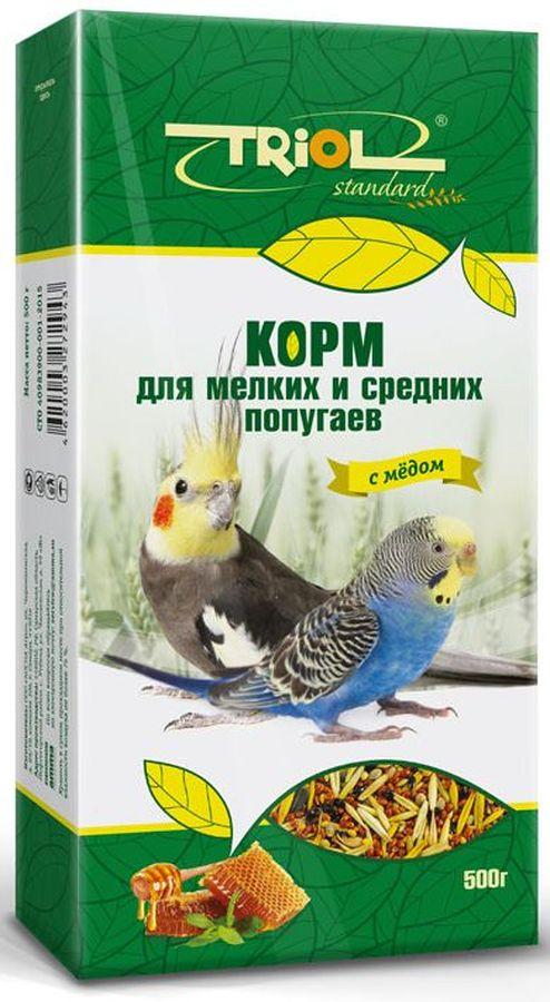 Корм Тriol Standard для мелких и средних попугаев, с медом, 500 гКф-00100Универсальная смесь из отборных зерновых культур для ежедневного кормления мелких и средних попугаев с мёдом. Корм содержит любимые пернатыми зерна и семена, сбалансирован по микро- и макроэлементам и обогащен витаминами, необходимыми для правильного развития пернатых питомцев. Основной корм для попугаев - это уникальный коктейль из зерновых и злаковых культур, а так же натуральных сущеных трав, богатых на масла семян и орехов от компании Triol. Данный продукт представляет собой полнорационный корм для средних и мелких попугаев, он содержит оптимальное количество растительных белков и клетчатки для обеспечения организма птицы жизнедеятельностью. Кроме того зерна насыщены минеральными веществами и витаминами, среди которых фосфор, минеральные соли и жиры, способствующие улучшению работы пищеварительной системы и улучшая общий обмен веществ. Так же в продукте содержаться растительные масла и экстракты трав, которые поспособствуют улучшению работы пищеварительной системы и сохранению...