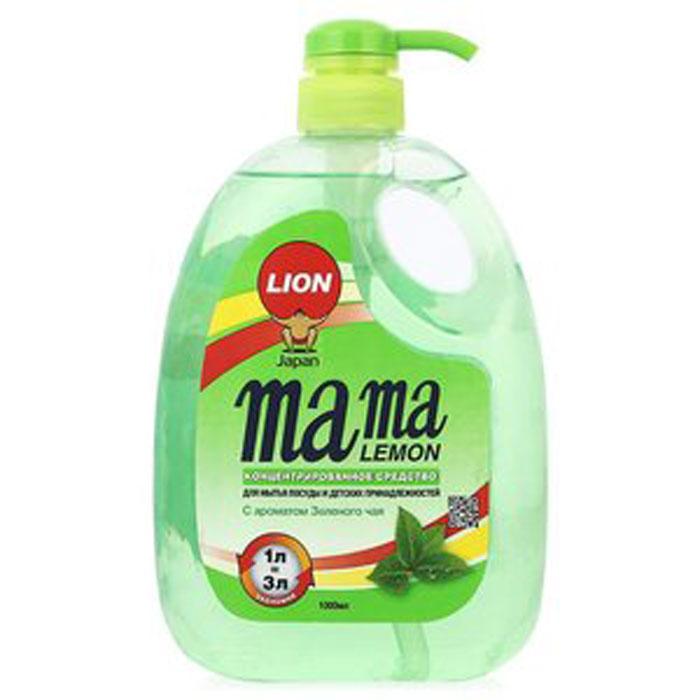 Гель для мытья посуды и детских принадлежностей Mama Lemon Green Tea, с ароматом зеленого чая, 1000 мл46334Для мытья посуды, овощей и фруктов, для мытья детских принадлежностей, на основе природных минералов, Cистема Двойного Обезжиривания (AFDS), 3х концентрация, не сушит руки, на основе природных минералов, устраняет неприятные запахи