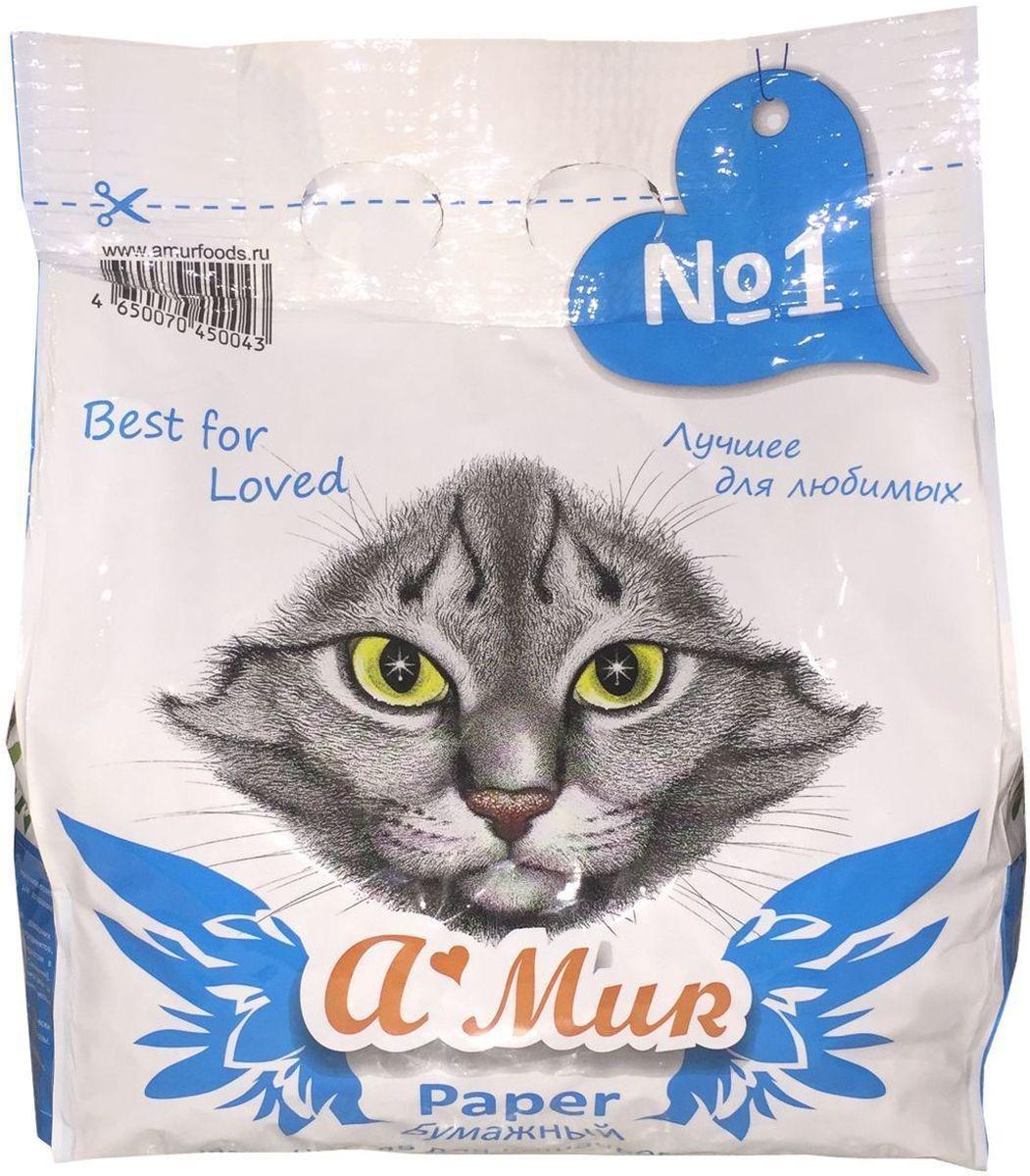 Наполнитель для кошачьего туалета A'MUR, бумажный, 2,5 кг (5 л) 50043