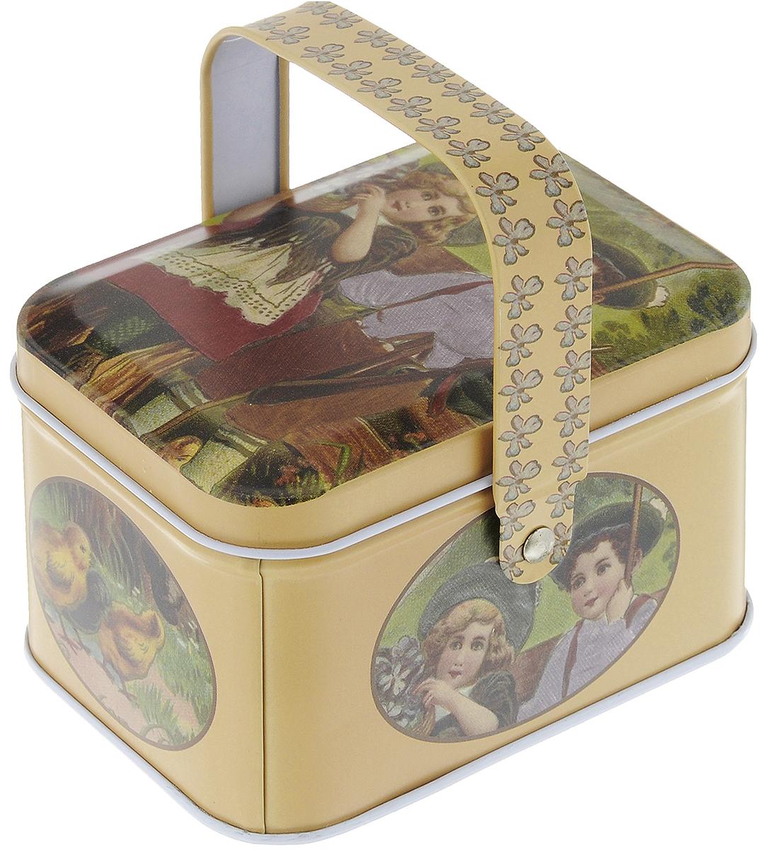 Коробка для хранения мелочей Hobby & Pro, 10,5 х 8 х 6,2 см. 7712762/9410017712762/941001Коробка для хранения мелочей Hobby & Pro, выполненная из металла, станет практичным решением для хранения швейных принадлежностей. Внешняя поверхность оформлена красивым рисунком. Внутри - одно отделение. Такая оригинальная коробка подойдет для хранения разных предметов рукоделия: ниток, иголок, бусин, кнопок и многого другого. Для переноски имеется удобная ручка. Размер коробки (без учета ручки): 10,5 х 8 х 6,2 см. Высота коробки (с учетом ручки): 10 см.