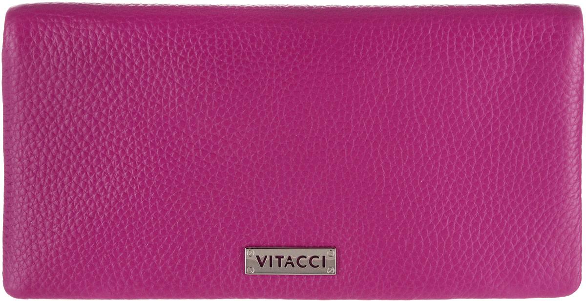 Кошелек женский Vitacci, цвет: розовый. HS142ICE 8508Элегантный женский кошелек Vitacci выполнен из высококачественной натуральной кожи. Кошелек застегивается на клапан с кнопкой и имеет три отделения для купюр. Внутри также располагаются двенадцать накладных открытых кармашков для карт, один из которых дополнен прозрачной вставкой, и прорезной карман на застежке-молнии. Кошелек дополнен отделением для мелочи на молнии, которое расположено на задней стенке. Практичность и уникальный стиль кошелька Vitacci подчеркнут вашу элегантность и превосходный вкус.