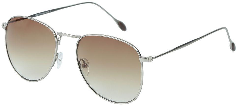 Очки солнцезащитные женские Fabretti, цвет: серебристый, коричневый. E278924-1INT-06501Женские очки-авиаторы от итальянского бренда Fabretti – это изысканный аксессуар, который должен быть у каждой модницы в этом сезоне. Стильная форма- авиатор и линзы в изысканном коричневом цвете с легкостью подчеркнут ваш яркий вкус и дополнят любой современный образ. Градиентное покрытие линз и аккуратные дужки в стальном оттенке превратили модель, в надежный аксессуар, который будет вашим верным спутником, как на отдыхе, так и за рулем автомобиля.