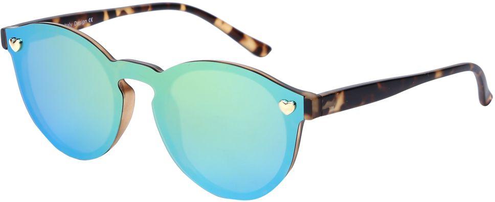 Очки солнцезащитные женские Fabretti, цвет: коричневый, голубой, зеленый. J174406-1PZFM-883-MSKЯркие женские очки от итальянского бренда Fabretti выполнены в ультрамодной форме панто, которая воссоздает элегантность и утонченность 60-х годов. Отсутствие оправы, насыщенный синий цвет и зеркальные линзы добавять в ваш образ современный шик. Поляризационное покрытие, фурнитура в виде миниатюрных сердец, высокая степень защиты от солнечных лучей, - все это превращает модель в прочные и стильные очки, которые будут украшать вас и привлекать внимание окружающих на протяжении нескольких модных сезонов.