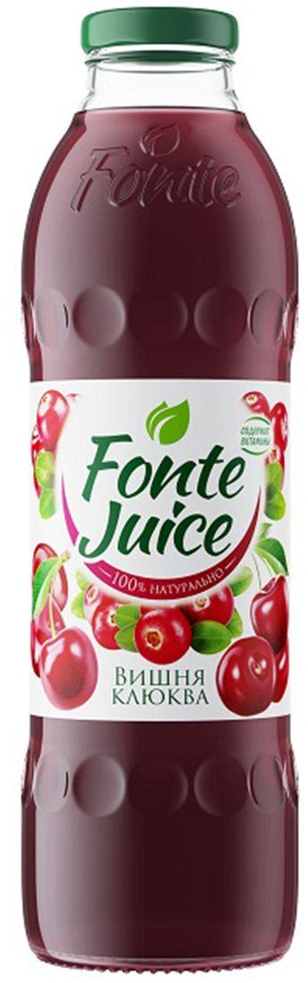 Fonte juice Нектар вишня, клюква, 0,75 л 4607050696663