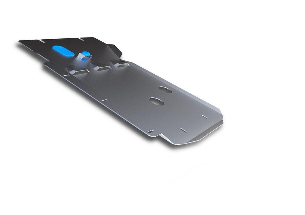 Защита КПП и РК Rival, для BMW X1, алюминий 4 мм333.0517.1Защита КПП и РК для BMW X1 4WD , 20i; 20d; 25d 2009-2015, крепеж в комплекте, алюминий 4 мм, Rival Алюминиевые защиты картера Rival надежно защищают днище вашего автомобиля от повреждений, например при наезде на бордюры, а также выполняют эстетическую функцию при установке на высокие автомобили. - Толщина алюминиевых защит в 2 раза толще стальных, а вес при этом меньше до 30%. - Отлично отводит тепло от двигателя своей поверхностью, что спасает двигатель от перегрева в летний период или при высоких нагрузках. - В отличие от стальных, алюминиевые защиты не поддаются коррозии, что гарантирует срок службы защит более 5 лет. - Покрываются порошковой краской, что надолго сохраняет первоначальный вид новой защиты и защищает от гальванической коррозии. - Глубокий штамп дополнительно усиливает конструкцию защиты. - Подштамповка в местах крепления защищает крепеж от срезания. - Технологические отверстия там,...