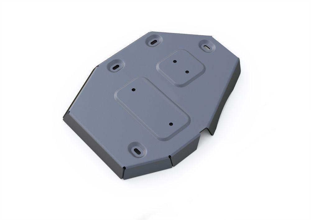 Защита редуктора Rival, для Jeep Cherokee, алюминий 4 мм333.2727.1Защита редуктора для Jeep Cherokee АКПП, 4WD, V - 2,4, 3,2 2014-, крепеж в комплекте, алюминий 4 мм, Rival Алюминиевые защиты картера Rival надежно защищают днище вашего автомобиля от повреждений, например при наезде на бордюры, а также выполняют эстетическую функцию при установке на высокие автомобили. - Толщина алюминиевых защит в 2 раза толще стальных, а вес при этом меньше до 30%. - Отлично отводит тепло от двигателя своей поверхностью, что спасает двигатель от перегрева в летний период или при высоких нагрузках. - В отличие от стальных, алюминиевые защиты не поддаются коррозии, что гарантирует срок службы защит более 5 лет. - Покрываются порошковой краской, что надолго сохраняет первоначальный вид новой защиты и защищает от гальванической коррозии. - Глубокий штамп дополнительно усиливает конструкцию защиты. - Подштамповка в местах крепления защищает крепеж от срезания. - Технологические отверстия...