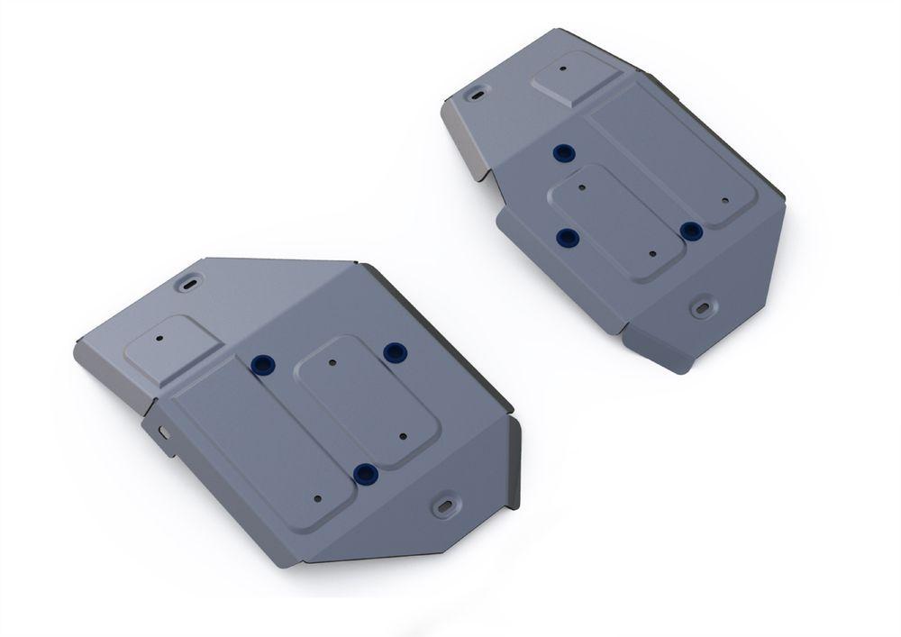 Защита топливного бака Rival, для Land Rover Range Rover Evoque, алюминий 4 мм333.3125.1Защита топливного бака для Land Rover Range Rover Evoque , V - 2,0; 2,2d 2011-, крепеж в комплекте, алюминий 4 мм, Rival Алюминиевые защиты картера Rival надежно защищают днище вашего автомобиля от повреждений, например при наезде на бордюры, а также выполняют эстетическую функцию при установке на высокие автомобили. - Толщина алюминиевых защит в 2 раза толще стальных, а вес при этом меньше до 30%. - Отлично отводит тепло от двигателя своей поверхностью, что спасает двигатель от перегрева в летний период или при высоких нагрузках. - В отличие от стальных, алюминиевые защиты не поддаются коррозии, что гарантирует срок службы защит более 5 лет. - Покрываются порошковой краской, что надолго сохраняет первоначальный вид новой защиты и защищает от гальванической коррозии. - Глубокий штамп дополнительно усиливает конструкцию защиты. - Подштамповка в местах крепления защищает крепеж от срезания. -...