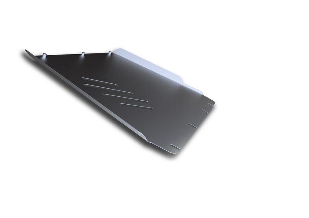Защита КПП Rival, для Nissan Navara, алюминий 4 мм333.4106.2Защита КПП для Nissan Navara , V - 2,5, 3,0, 4,0 2005-2015, крепеж в комплекте, алюминий 4 мм, Rival Алюминиевые защиты картера Rival надежно защищают днище вашего автомобиля от повреждений, например при наезде на бордюры, а также выполняют эстетическую функцию при установке на высокие автомобили. - Толщина алюминиевых защит в 2 раза толще стальных, а вес при этом меньше до 30%. - Отлично отводит тепло от двигателя своей поверхностью, что спасает двигатель от перегрева в летний период или при высоких нагрузках. - В отличие от стальных, алюминиевые защиты не поддаются коррозии, что гарантирует срок службы защит более 5 лет. - Покрываются порошковой краской, что надолго сохраняет первоначальный вид новой защиты и защищает от гальванической коррозии. - Глубокий штамп дополнительно усиливает конструкцию защиты. - Подштамповка в местах крепления защищает крепеж от срезания. - Технологические отверстия там,...