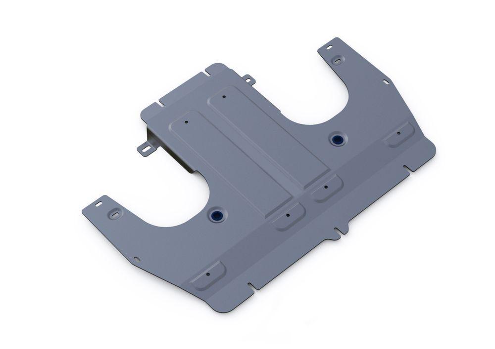 Защита КПП Rival, для Porsche Panamera, алюминий 4 мм333.4609.1Защита КПП для Porsche Panamera 4WD, V-3,0 2009-, крепеж в комплекте, алюминий 4 мм, Rival Алюминиевые защиты картера Rival надежно защищают днище вашего автомобиля от повреждений, например при наезде на бордюры, а также выполняют эстетическую функцию при установке на высокие автомобили. - Толщина алюминиевых защит в 2 раза толще стальных, а вес при этом меньше до 30%. - Отлично отводит тепло от двигателя своей поверхностью, что спасает двигатель от перегрева в летний период или при высоких нагрузках. - В отличие от стальных, алюминиевые защиты не поддаются коррозии, что гарантирует срок службы защит более 5 лет. - Покрываются порошковой краской, что надолго сохраняет первоначальный вид новой защиты и защищает от гальванической коррозии. - Глубокий штамп дополнительно усиливает конструкцию защиты. - Подштамповка в местах крепления защищает крепеж от срезания. - Технологические отверстия там, где они...