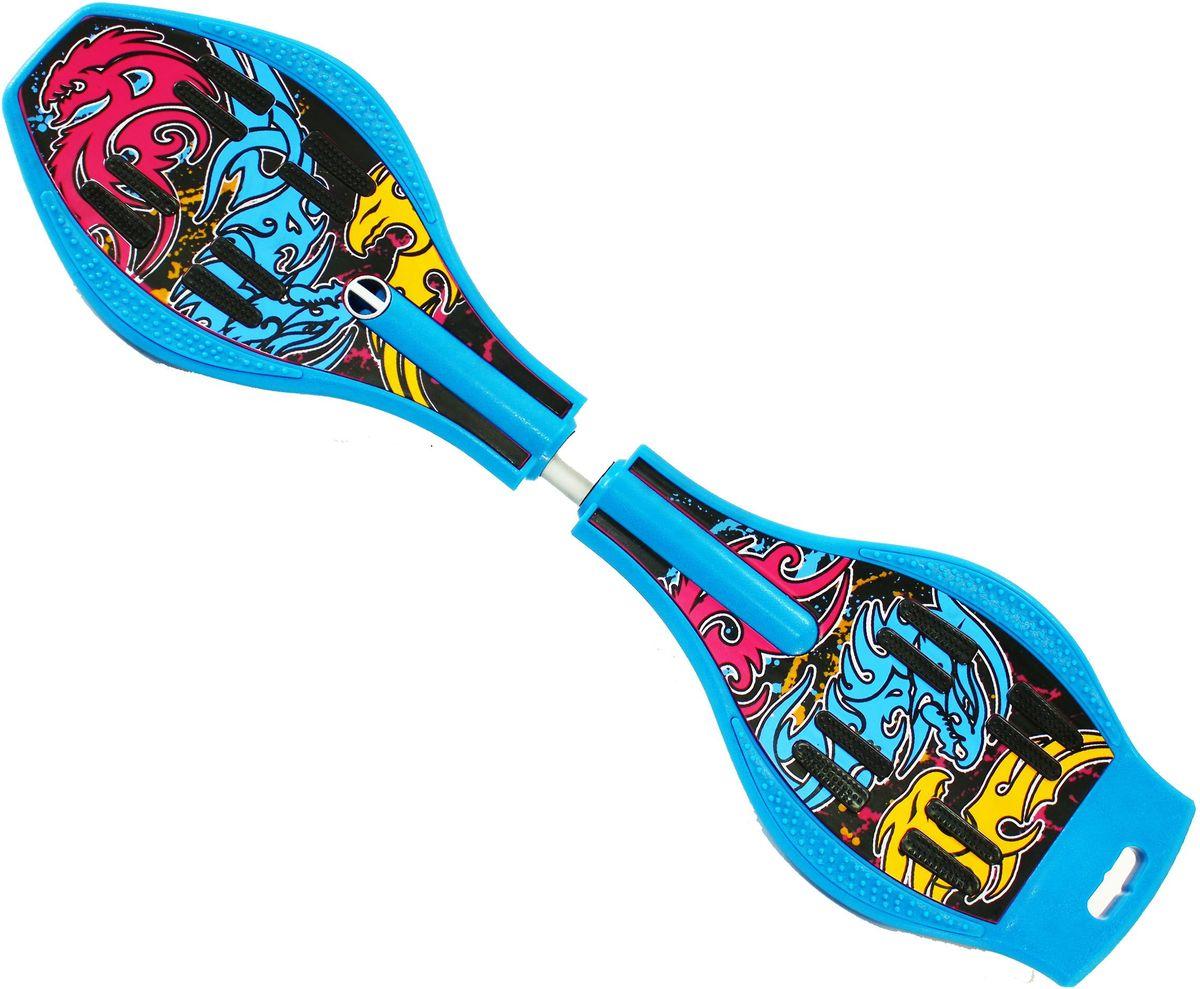 Роллерсерф Dragon Board Totem, цвет: синийWRA523700Габариты: 80 х 21 х 11 см.Вес: 2,4 кг. Максимальная нагрузка: до 70 кг.База - ударопрочный ABS пластик.Подшипники - ABEC5.Колеса - полиуретан, 78см, 82АКонструкция - торсионная пружина.