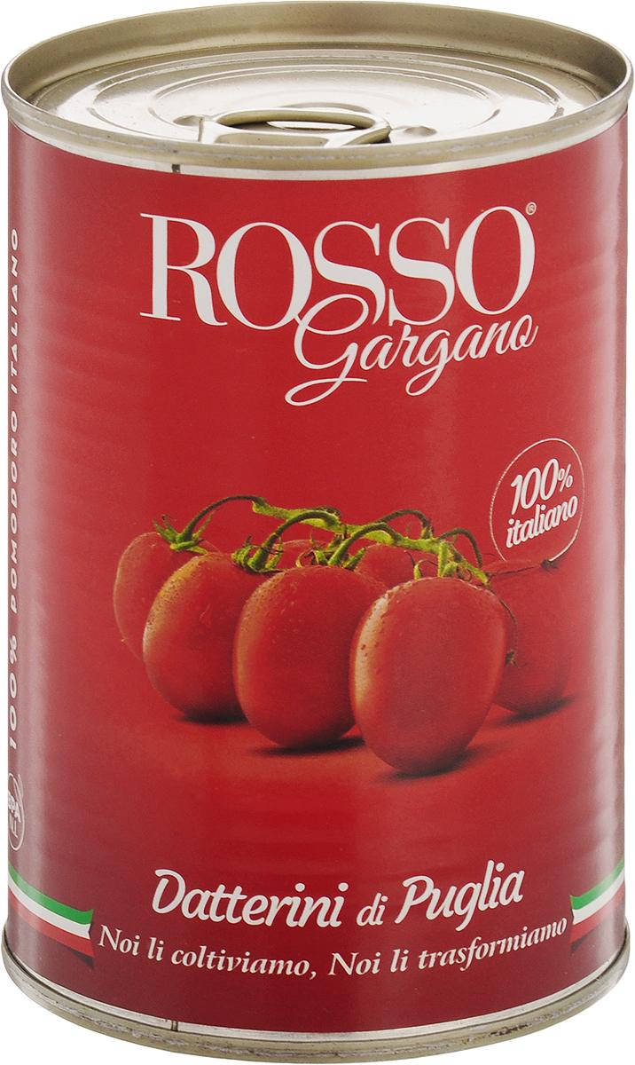 Rosso Gargano томаты целые в собственном соку, 400 г8033837720430Томаты сразу после сбора проходят специальную обработку для того, чтобы сохранить свою форму, свежесть, вкусовые качества и аромат. Томаты Rosso Gargano насыщенно-красного цвета, помещены в томатный сок, с приятным мягким вкусом.