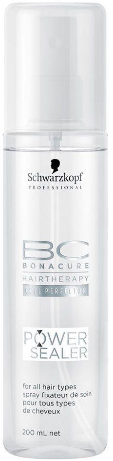 Bonacure Запечатывающий Спрей для поверхности волос Power Sealer 200 млFS-00897Спрей для придания волосам блеска. На основе масла семян абрикоса распределяется на поверхности волос закрепляя систему ухода и обеспечивая защиту. Для всех типов волос