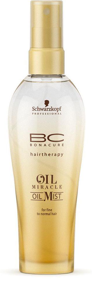 Bonacure Спрей-масло для тонких волос Oil Miracle Oil Mist fine hair 100 млБ33041_шампунь-барбарис и липа, скраб -черная смородинаСпрей - масло для тонких волос. Насыщенная формула с драгоценным маслом марулы интенсивно питает волосы, состав быстро распределяется по полотну, обеспечивая гладкость и эластичность, а затем моментально испаряется; Рекомендуется использовать в комплексе с шампунем BC Oil Miracle light.