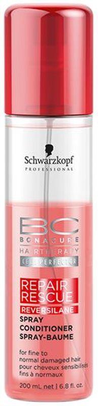Bonacure Спасительное Восстановление Спрей-Кондиционер Repair Rescue Spray-Conditioner 200 мл4605845001470Несмываемый спрей - кондиционер с мгновенным восстанавливающим эффектом для поврежденных волос. Заряжает волосы жизненной энергией. Облегчает расчесывание, придает натуральный блеск. Мгновенно улучшает состояние волос делая их мягкими и послушными. Рекомендуется использовать в комплексе с шампунем BC Repair Rescue.