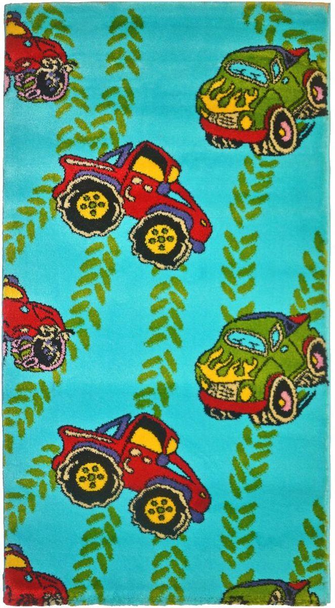 Ковер детский Kamalak Tekstil Внедорожники, 60 х 110 смУКД-2072Детский ковер Kamalak Tekstil изготовлен из высококачественного полипропилена. Полипропилен износостоек, нетоксичен, не впитывает влагу, не провоцирует аллергию. Структура волокна в полипропиленовых коврах гладкая, поэтому грязь не будет въедаться и скапливаться на ворсе. Практичный и износоустойчивый ворс не истирается и не накапливает статическое электричество. Ковер обладает хорошими показателями теплостойкости и шумоизоляции. Оригинальный рисунок позволит гармонично оформить интерьер детской комнаты. За счет невысокого ворса ковер легко чистить. При надлежащем уходе синтетический ковер прослужит долго, не утратив ни яркости узора, ни блеска ворса, ни упругости. Самый простой способ избавить изделие от грязи - пропылесосить его с обеих сторон (лицевой и изнаночной). Влажная уборка с применением шампуней и моющих средств не противопоказана. Хранить рекомендуется в свернутом рулоном виде.