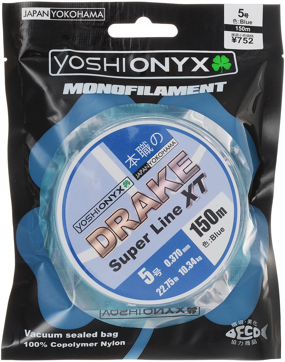 Леска Yoshi Onyx Drake Super Line XT, цвет: голубой, 150 м, 0,370 мм, 10,34 кг89481Леска Yoshi Onyx Drake Super Line XT выполнена из голубого монофила (нейлон). Скользкий и мягкий, этот материал невероятно прочен и отлично выдерживает разрывную нагрузку на большинстве узлов. Леска обладает непревзойденными водоотталкивающими свойствами и практически незаметна в воде, что делает ее незаменимой при ловле в условии низких температур. Создана специально для ловли на различные искусственные приманки. Данная леска обладает повышенной устойчивостью к истиранию, прочностью и превосходной чувствительностью. Она очень эластичная, практически не имеет памяти, строго соответствует заявленным тестовым нагрузкам и диаметру.