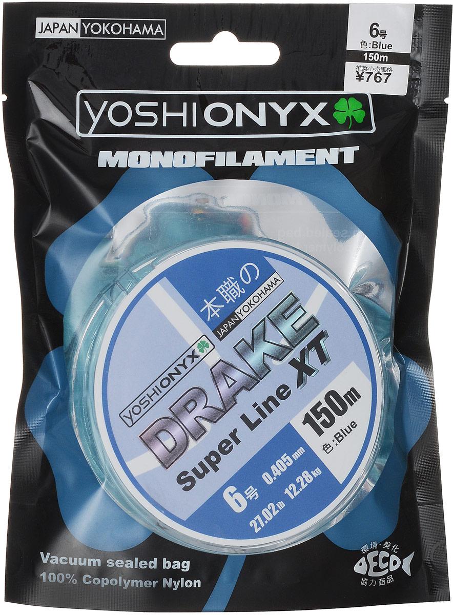 "Леска Yoshi Onyx ""Drake Super Line XT"", цвет: голубой, 150 м, 0,405 мм, 12,28 кг 89482"