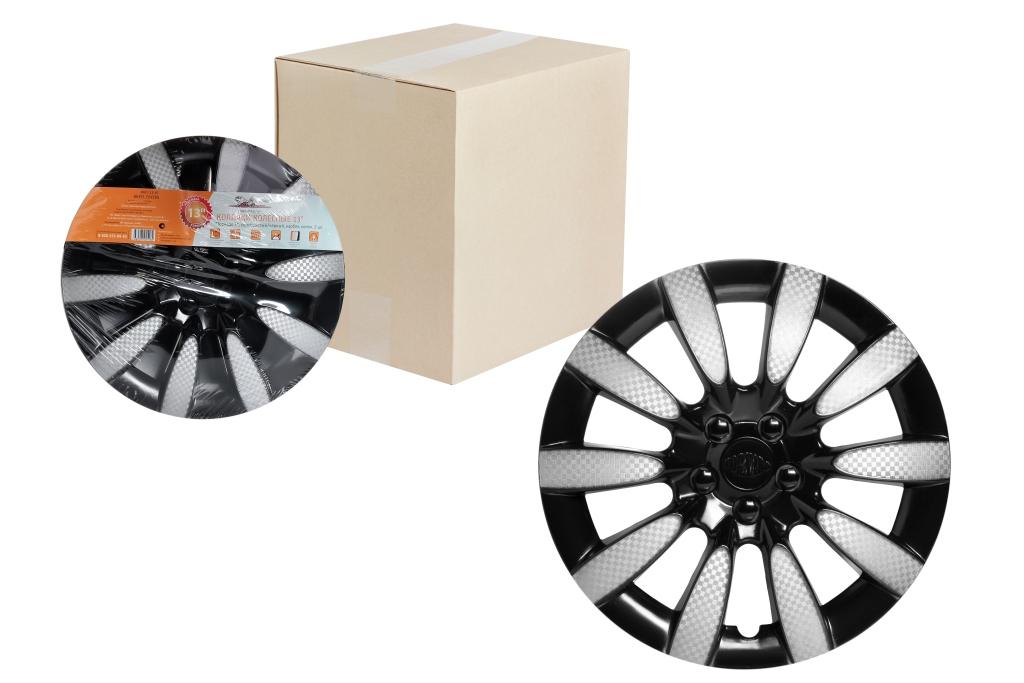 Колпаки колесные Airline Торнадо Т. Карбон, цвет: серебристый, черный, 13, 2 штAWCC-13-10Колпаки колесные Airline Торнадо Т. Карбон изготовлены из ударопрочного полистирола, имеют модную текстуру, имитирующую карбон, покрашены в популярный цвет, а также стойкие к повышенным и пониженным температурам. Колпаки колесные имеет оригинальную форму, а также скрывают изъяны штампованных дисков. Зафиксировать колпаки и избежать их поломки помогают крепления с одинаковым распределением давления. Колпаки Airline защитят тормозную систему от грязи, соли и реагентов, скроют изъяны штампованных дисков, тем самым украсив ваш автомобиль. Колпаки колесные обеспечивают вентиляцию тормозных дисков и открытый доступ к ниппелю.