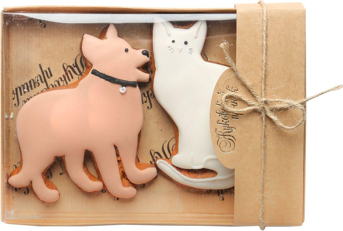 Жуковский пряник Подарочный набор Собака и кот