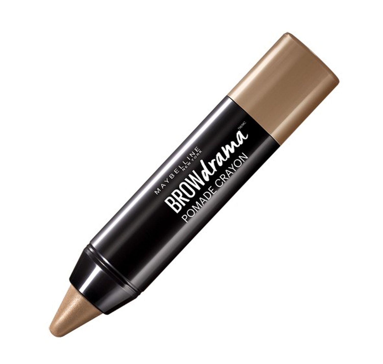 Maybelline New York Восковый карандаш-стик для бровей Brow Drama, Pomade, оттенок 01, Темный блонд, 1,1г572011-ый кремовый карандаш-стик для бровей в трех оттенках.