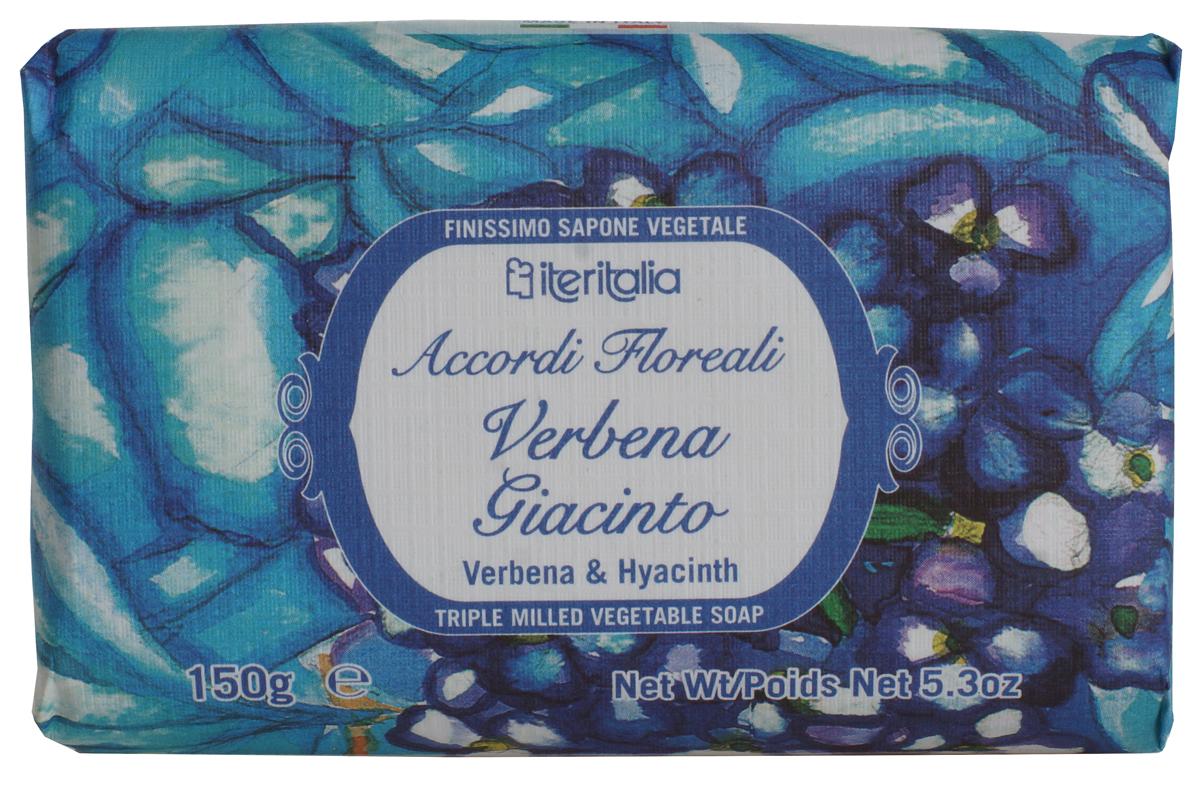 Iteritalia Мыло натуральное косметическое с оливковым маслом ,аромат вербена и гиацинт 150 гр.966Натуральное косметическое мыло с ароматами вербена и гиацинт. Высококачественное натуральное растительное мыло, обогащенное оливковым маслом, обладает питательным, увлажняющим и успокаивающим свойствами. Нежно очищает кожу, делая ее гладкой и бархатистой. Мягкое мыло, упакованное в эко-бумагу, имеет тонкий, изысканный аромат вербены и гиацинта. Подходит для всех типов кожи.