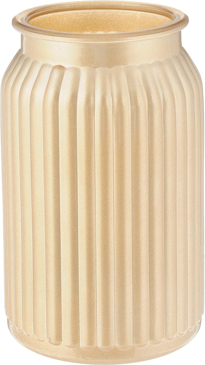 Ваза NiNaGlass Реана, цвет: золотой, высота 19 см92-022 ЗОЛВаза NiNaGlass Реана выполнена из высококачественного стекла и имеет изысканный внешний вид. Такая ваза станет ярким украшением интерьера и прекрасным подарком к любому случаю. Высота вазы: 19 см. Диаметр вазы (по верхнему краю): 10 см.