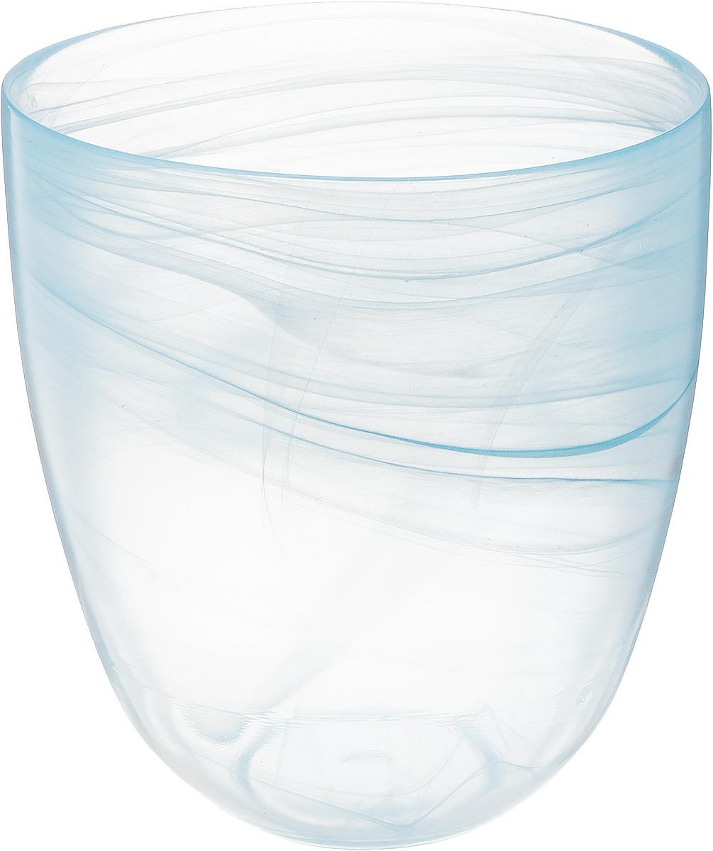 Кашпо NiNaGlass, цвет: прозрачный, голубой, высота 18 см93-027_прозрачный, голубойКашпо NiNaGlass имеет уникальную форму, сочетающуюся как с классическим, так и с современным дизайном интерьера. Оно изготовлено из высококачественного стекла и предназначено для выращивания растений, цветов и трав в домашних условиях. Кашпо NiNaGlass порадует вас функциональностью, а благодаря лаконичному дизайну впишется в любой интерьер помещения. Диаметр кашпо (по верхнему краю): 16 см. Высота кашпо: 18 см.