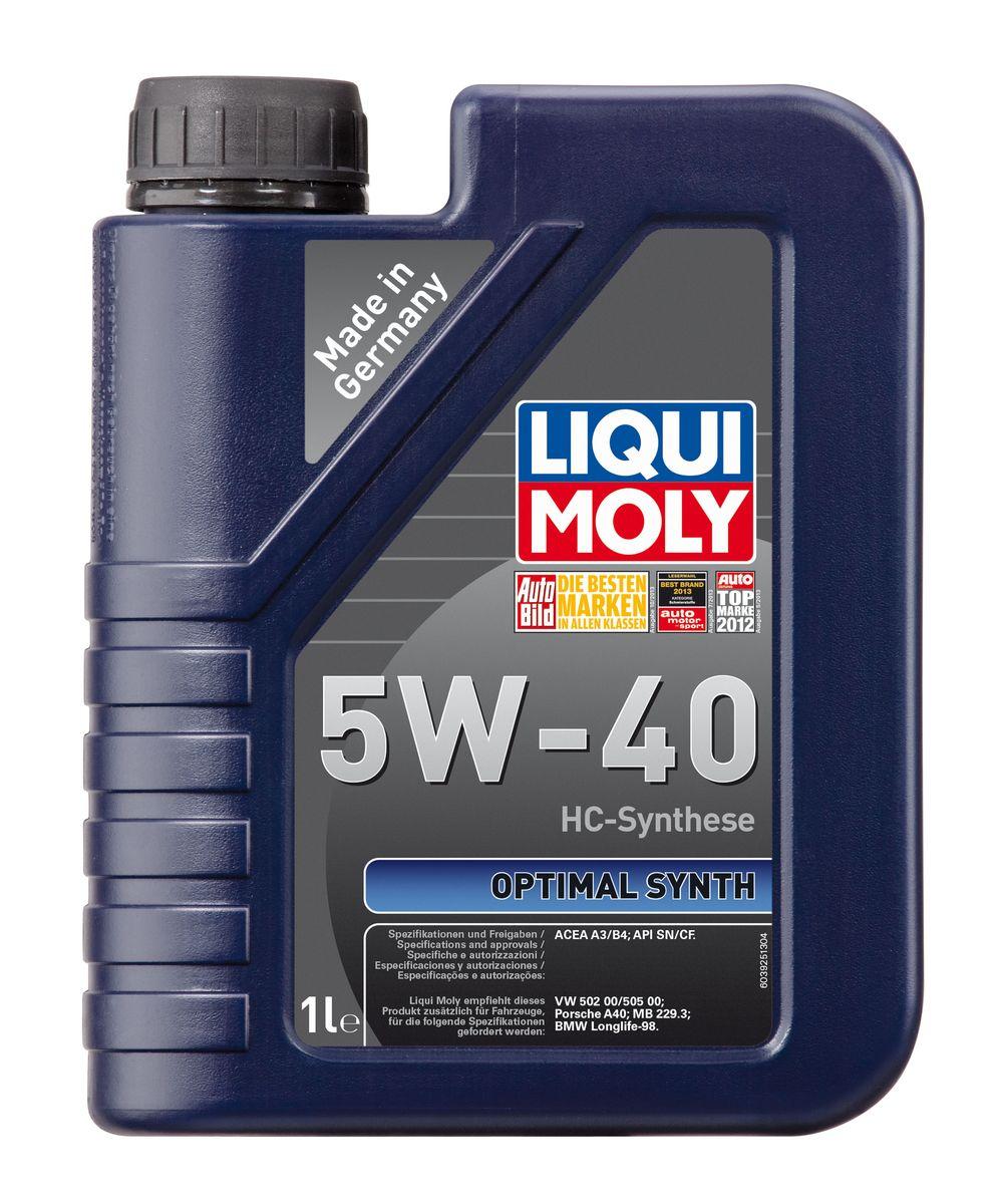 Масло моторное Liqui Moly Optimal Synth, НС-синтетическое, 5W-40, 1 л3925Масло моторное Liqui Moly Optimal Synth - это HC-синтетическое моторное масло с адаптированным для российских условий пакетом присадок. Благодаря новейшим технологиям синтеза и вязкости 5W-40 масло обеспечивает высокий уровень защиты и оптимальное смазывание деталей двигателя. Масло удовлетворяет современным международным стандартам API/ACEA. Масло создано на основе базовых компонентов, произведенных по технологии HC-синтеза, с учетом самых высоких требований, предъявляемых современными и мощными бензиновыми и дизельными двигателями. Оно обеспечивает отличную смазку при любых условиях эксплуатации. Одновременно снижается до минимума трение, в результате чего уменьшается расход топлива. Особенности: - Быстрое поступление масла к деталям двигателя при низких температурах - Надежная защита от износа - Низкий расход масла - Оптимальная чистота двигателя - Экономия топлива и снижение вредных выбросов - Проверено на турбированных двигателях...