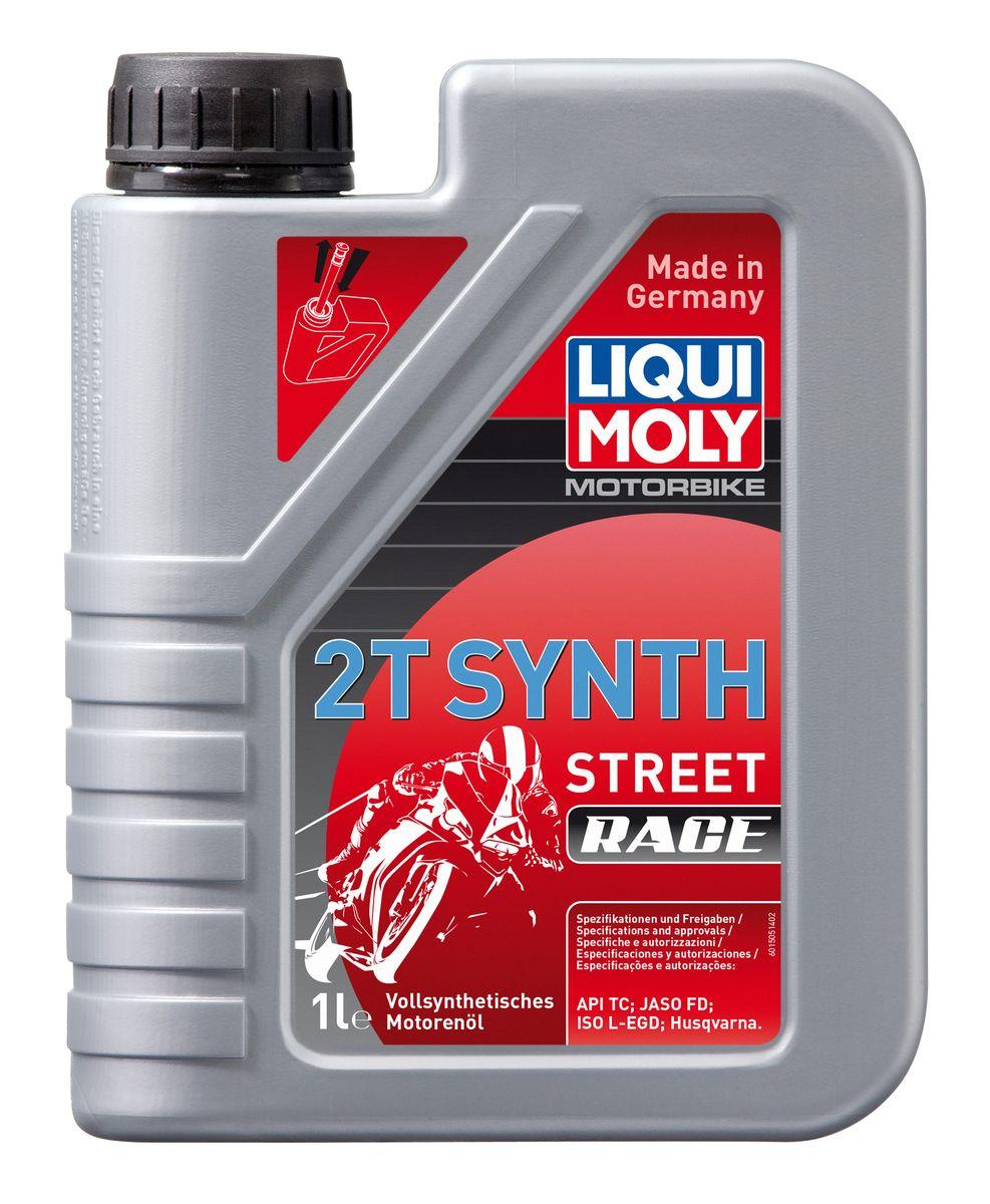 """Масло моторное Liqui Moly """"Motorbike 2T Synth Street Race"""", синтетическое, 1 л"""