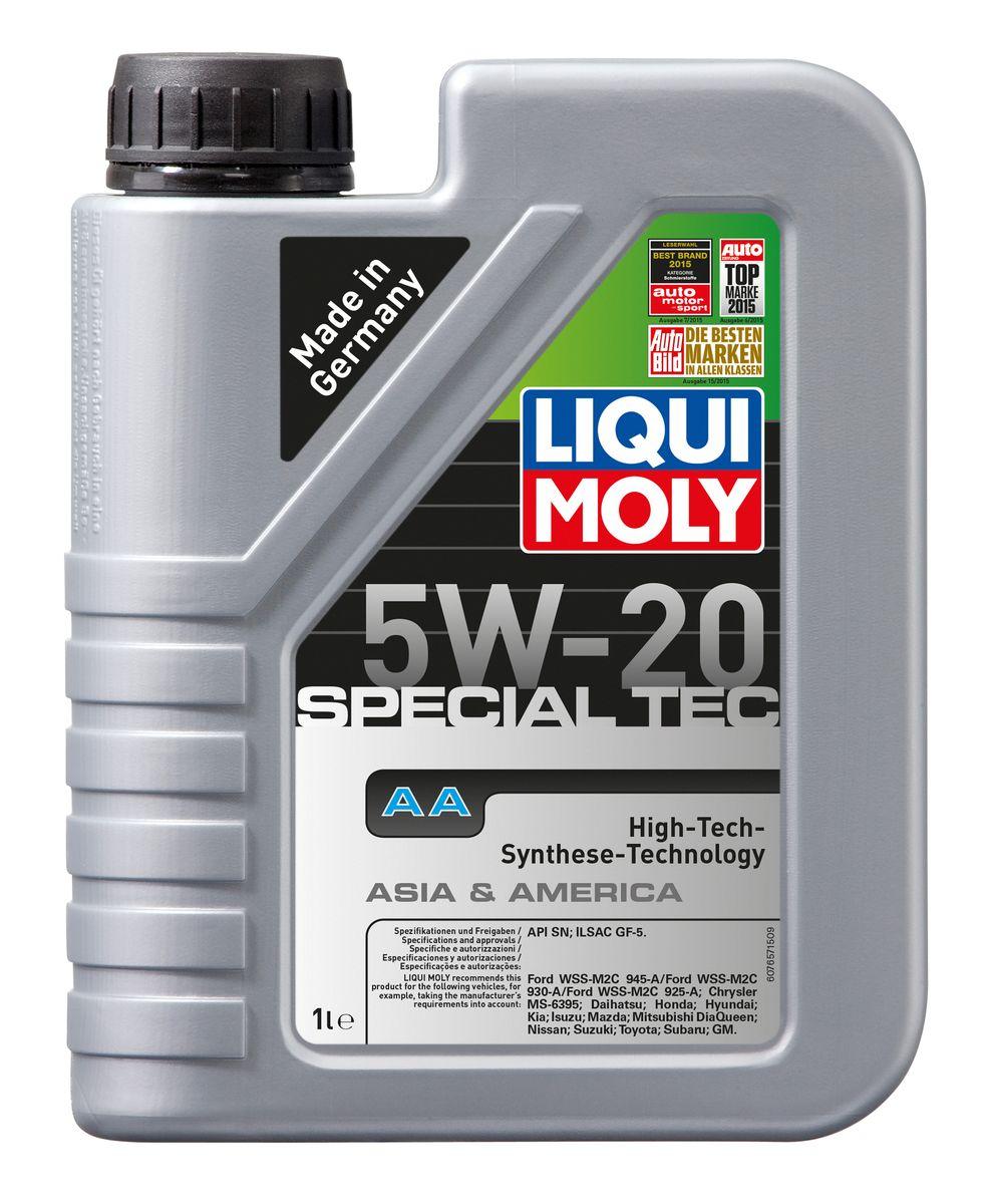 Масло моторное Liqui Moly Special Tec AA, НС-синтетическое, 5W-20, 1 л2706 (ПО)Масло моторное Liqui Moly Special Tec AA рекомендуется для автомобилей Honda, Mazda, Mitsubishi, Nissan, Daihatsu, Hyundai, Kia, Isuzu, Suzuki, Toyota, Subaru, Ford, Chrysler, GM.Современное HC-синтетическое энергосберегающее моторное масло специально разработано для всесезонного использования в двигателях американских и азиатских автомобилей. Благодаря классу вязкости 5W-20 данное масло отлично подходит для новейших двигателей Honda, произведенных для японского и американского рынков. Базовые масла, полученные по технологии синтеза, и новейшие присадки составляют рецептуру моторного масла с отменной защитой от износа, снижающего расход топлива и масла, обеспечивающего чистоту двигателя и максимально быстрое поступление к трущимся деталям. Особенности: - Быстрое поступление масла ко всем деталям двигателя при низких температурах- Высочайшие показатели топливной экономии- Сокращает эмиссию выхлопных газов- Отличная чистота двигателя- Совместимо с новейшими системами нейтрализации отработавших газов бензиновых двигателейМоторное масло Special Tec АА 5W-20 соответствует специальным требованиям азиатских и американских производителей, поэтому его использование позволяет сохранить все гарантийные условия при прохождении ТО соответствующих автомобилей. Допуск: - API: SN- ILSAC: GF-5