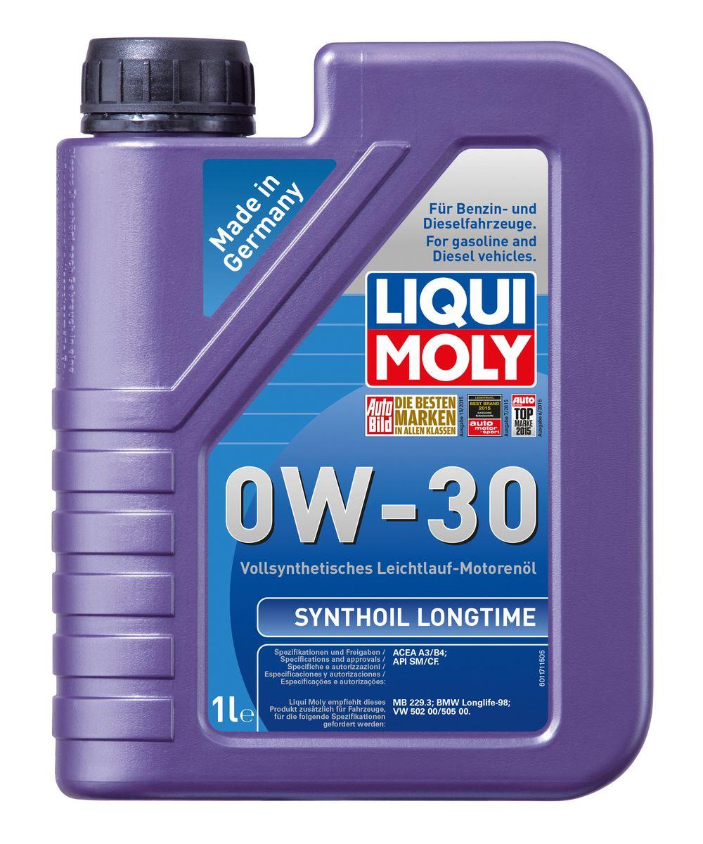 Масло моторное Liqui Moly Synthoil Longtime, синтетическое, 0W-30, 1 л8976Масло моторное Liqui Moly Synthoil Longtime - 100% синтетическое универсальное моторное масло на базе полиальфаолефинов (ПАО) для большинства автомобилей, для которых требования к маслам опираются на международные классификации API и ACEA. Класс вязкости 0W-30 моторного масла на ПАО-базе оптимален для эксплуатации в холодных условиях, обеспечивая уверенный пуск двигателя даже в сильный мороз и высокий уровень энергосбережения (и экономии топлива). Особенности: - Отличные пусковые свойства в мороз - Быстрое поступление масла ко всем деталям двигателя при низких температурах - Высокие показатели по экономии топлива - Высокая смазывающая способность - Замечательная термоокислительная стабильность и устойчивость к старению - Оптимальная чистота двигателя - Протестировано и совместимо с катализаторами и турбонаддувом - Высокая стабильность при высоких температурах - Очень низкий расход масла Допуск: -API: CF/SM ...